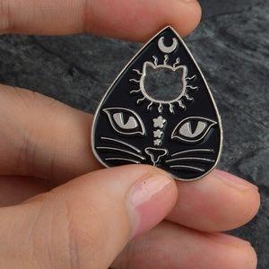 SALE! Pagan Kitty Ouija Planchette Enamel Pin